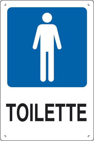 cartello toilette uomini